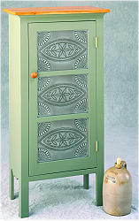 Storage Cabinet Featuring Punched Tin Panels