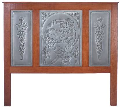 Beau Ornate Headboard Featuring Punched Tin Panels (RP 1270, RP 1271, RP